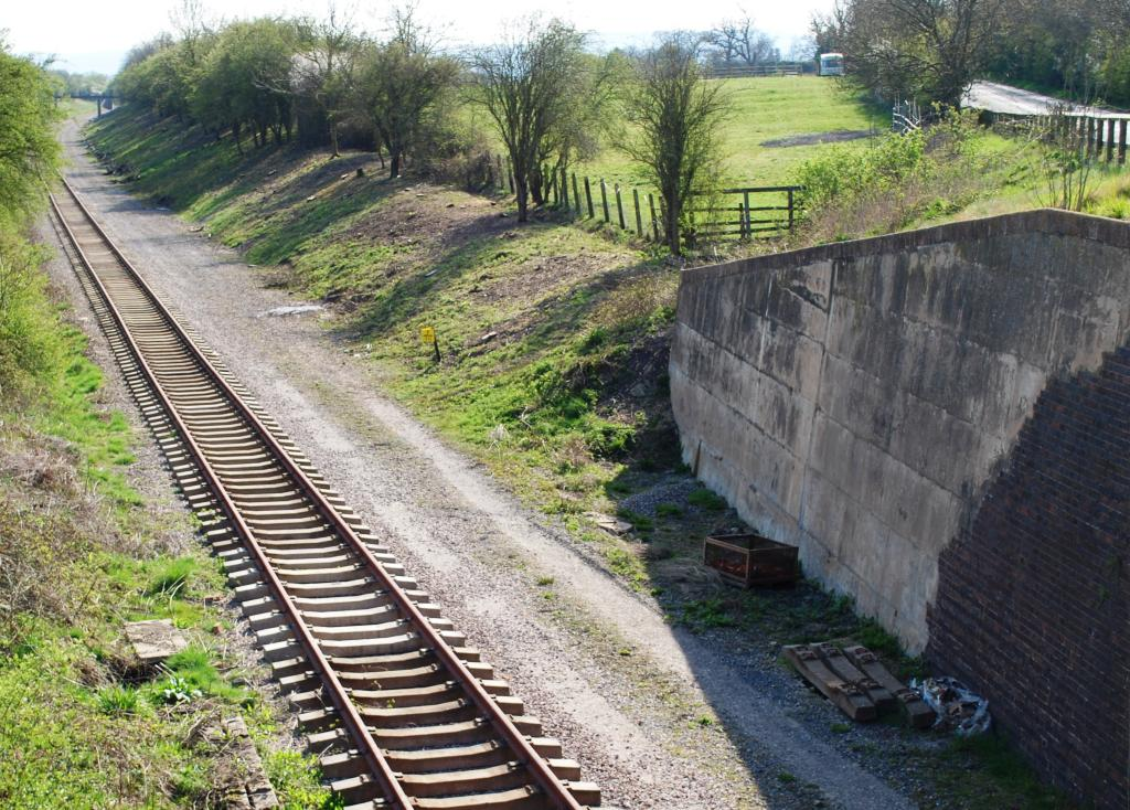The new line of track passes beneath the B4632 in 2010