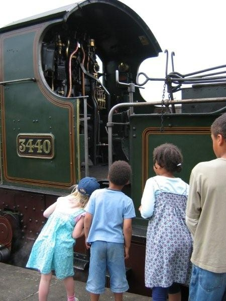 Children Looking at Footplate