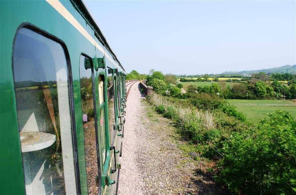The same scene taken from class 122 'Bubble car' no. W55003 on 30 April 201