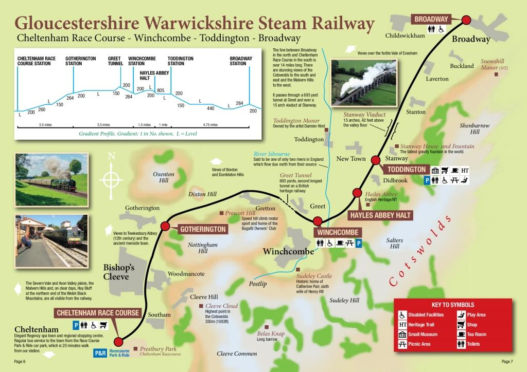 Map Of The Line Gloucestershire Warwickshire Steam Railway
